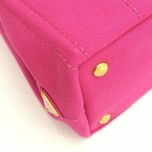 プラダ 2Wayバッグ CANAPA カナパ ストラップ付き キャンバス FUXIA ピンク  保存袋 箱付き B2439G 中古(新品同様) lafesta-k 09