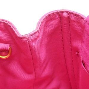 プラダ 2Wayバッグ CANAPA カナパ ストラップ付き キャンバス FUXIA ピンク  保存袋 箱付き B2439G 中古(新品同様) lafesta-k 10