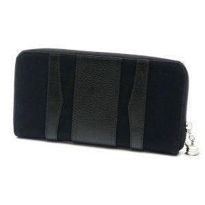 ブルガリ 長財布 キャンバス×レザー ブラック 箱 紙袋付き 33776 中古(新品同様)|lafesta-k|02
