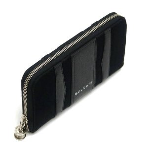 ブルガリ 長財布 キャンバス×レザー ブラック 箱 紙袋付き 33776 中古(新品同様)|lafesta-k|03