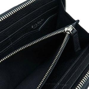 ブルガリ 長財布 キャンバス×レザー ブラック 箱 紙袋付き 33776 中古(新品同様)|lafesta-k|08