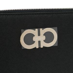 サルヴァトーレ フェラガモ 長財布 ガンチーニ レザー ブラック 22B300 新品|lafesta-k|04