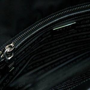 プラダ 2Wayバッグ TESSUTO+SAFFIAN ナイロン×レザー ブラック 保存袋付き BN2300 中古(程度極良)|lafesta-k|11