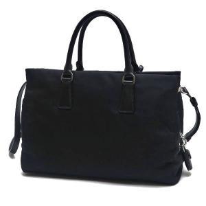 プラダ 2Wayバッグ TESSUTO+SAFFIAN ナイロン×レザー ブラック 保存袋付き BN2300 中古(程度極良)|lafesta-k|03