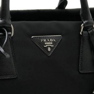 プラダ 2Wayバッグ TESSUTO+SAFFIAN ナイロン×レザー ブラック 保存袋付き BN2300 中古(程度極良)|lafesta-k|05