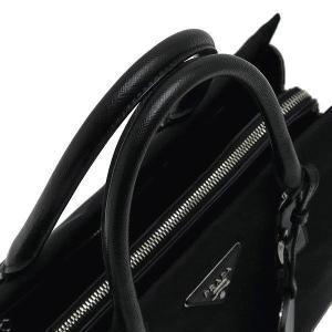 プラダ 2Wayバッグ TESSUTO+SAFFIAN ナイロン×レザー ブラック 保存袋付き BN2300 中古(程度極良)|lafesta-k|06