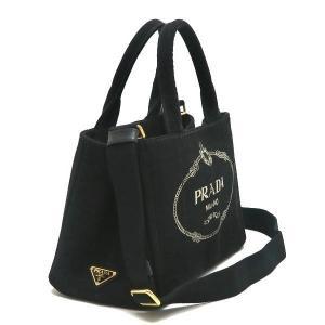 プラダ 2Wayバッグ CANAPA カナパ ストラップ付き キャンバス ブラック 保存袋付き B2439G 中古(程度極良【美品】)|lafesta-k|02