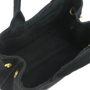 プラダ 2Wayバッグ CANAPA カナパ ストラップ付き キャンバス ブラック 保存袋付き B2439G 中古(程度極良【美品】)|lafesta-k|12