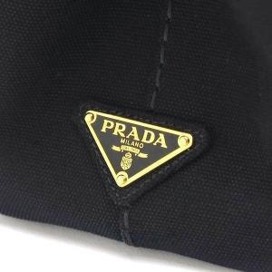 プラダ 2Wayバッグ CANAPA カナパ ストラップ付き キャンバス ブラック 保存袋付き B2439G 中古(程度極良【美品】)|lafesta-k|06