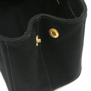 プラダ 2Wayバッグ CANAPA カナパ ストラップ付き キャンバス ブラック 保存袋付き B2439G 中古(程度極良【美品】)|lafesta-k|09