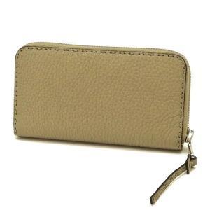 フェンディ 長財布 ジップアラウンドウォレット セレリア カーフレザー ベージュ系 箱 紙袋付き 8M0374 新品(展示品)|lafesta-k|02