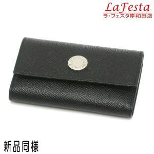 ブルガリ 6連キーケース クラシコライン グレインレザー ブラック 箱付き 20234 中古(新品同様) lafesta-k