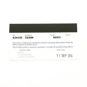 プラダ トートバッグ デニム ブラック B2642B 中古(程度極良)|lafesta-k|12
