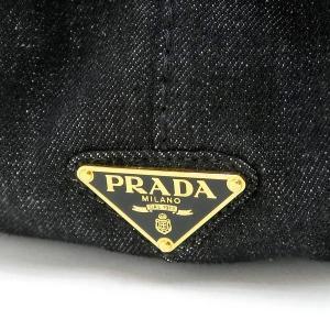プラダ トートバッグ デニム ブラック B2642B 中古(程度極良)|lafesta-k|07