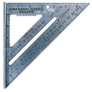 Swansonツールs0101?7-inch速度Squareレイアウトツール|lafeuille-store