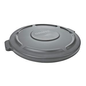ラバーメイドBRUTE 丸型コンテナ 121L (32ガロン) 用フタ グレー FG263100GRAY|lafeuille-store