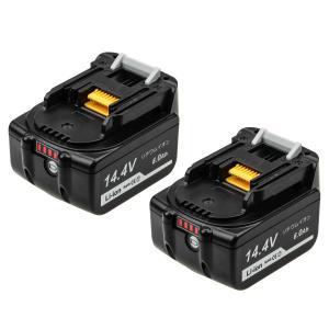 Boetpcr マキタ 14.4v バッテリー マキタ BL1460B マキタ バッテリー 14.4v 6.0Ah互換バッテリー残量表示付き マキタbl1430b bl1450b bl1440b bl1460b純正互換バ|lafeuille-store