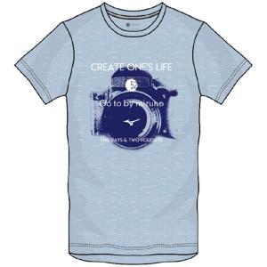 肌触りが良くふっくらと風合いにこだわった素材のグラフィックTシャツ。  ◯カラー/29:クールブルー...