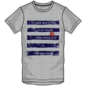 肌触りが良くふっくらと風合いにこだわった素材のグラフィックTシャツ。  ◯カラー/05:グレー杢 ◯...