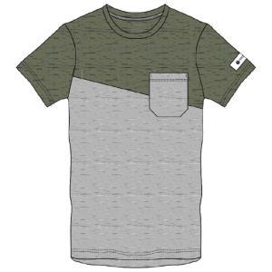 肌触りが良くふっくらと風合いにこだわった素材の胸ポケットTシャツ。切替デザインが特徴。  ◯カラー/...