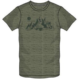 肌触りが良くふっくらと風合いにこだわった素材のグラフィックTシャツ。  ◯カラー/36:オリビンカー...