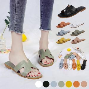 ビーチサンダル レディース フラットサンダル スリッパ 痛くない 歩きやすい サンダル リゾート 靴...