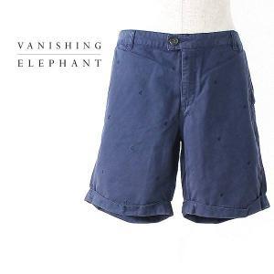 VANISHING ELEPHANT HALF PANTS SEPIA バニシング エレファント メンズ ハーフパンツ VE12-1-070-03 (col.NAVY) special priceCM|laglagmarket