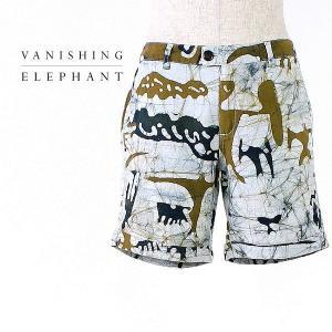 VANISHING ELEPHANT HALF PANTS SEPIA バニシング エレファント メンズ ハーフパンツ VE12-1-070-01 (col.BLUE) special priceCM|laglagmarket