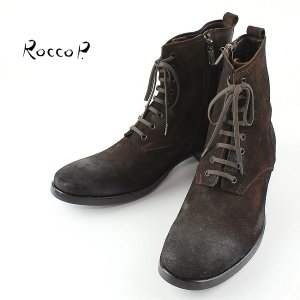RoccoP. 0537JJ/01B LACE UP STYLE SIDE JIP BOOTS ロッコピー レースアップスタイル サイドジップ ブーツ (col.BROWN) special priceCM laglagmarket