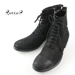 RoccoP. 0537JJ/01B LACE UP STYLE SIDE JIP BOOTS ロッコピー レースアップスタイル サイドジップ ブーツ (col.BLACK) special priceCM laglagmarket