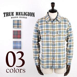 TRUE RELIGION HEAVY PLAID FLANNNEL SHIRT トゥルーレリジョン フランネルシャツ(3col) special priceCM|laglagmarket