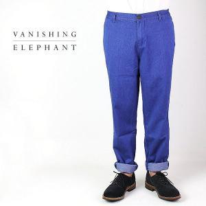 VANISHING ELEPHANT WIDE TAPERED PANTS バニシング エレファント ワイド テーパードパンツ 13M-1-007-01(ROYAL BLUE) special priceCM|laglagmarket