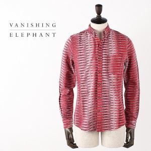 VANISHING ELEPHANT バニシング エレファント メンズ 柄BDシャツ 13M-3-001-15(レッド) special priceCM|laglagmarket