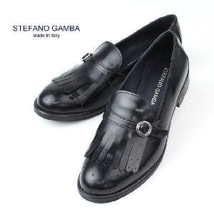 セール 国内正規品 STEFANO GAMBA ステファノガンバ レディース フリンジ バックルシューズ 6970(NERO.ブラック) special priceCL|laglagmarket