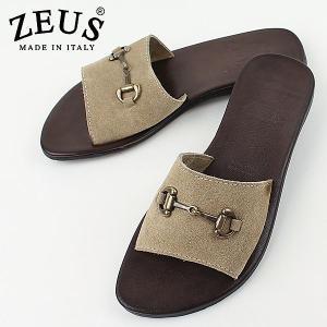 ZEUS ゼウス メンズ ビットモカシン レザーサンダル 1451 SABBIA (サンド)|laglagmarket