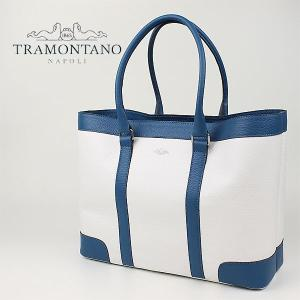TRAMONTANO トラモンターノ バイカラー レザートートバッグ 1320 ALCE (ブルー)レビューを書いて送料無料|laglagmarket