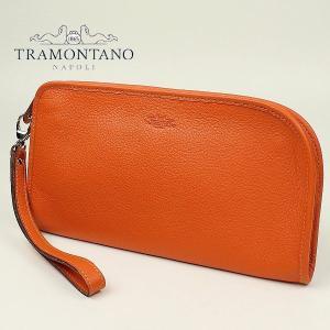TRAMONTANO トラモンターノ メンズ カーフレザー クラッチバッグ 1450 ALCE/COCCO ORANGE (オレンジ)レビューを書いて送料無料|laglagmarket
