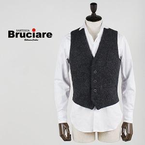 BRUCIARE ブルチアーレ メンズ カセンティーノ ウール ダイヤキルティング 5ボタン ジレ 3311811 (チャコール)  special priceBM|laglagmarket