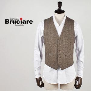 BRUCIARE ブルチアーレ メンズ ヘリンボーン 5ボタン ウールジレ 3310911 (ブラウン)special priceBM|laglagmarket