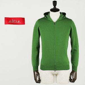 ALTEA アルテア メンズ ハイゲージ ニットパーカー AL42UA1463002 007(グリーン)  special priceBM|laglagmarket