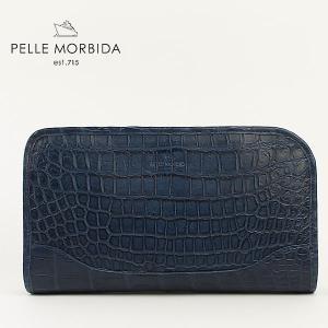 PELLE MORBIDA ペッレ モルビダ クロコダイルレザー クラッチバッグ PMO-CR015 BLU (ブルー)レビューを書いて送料無料|laglagmarket