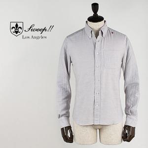 SWEEP!! スウィープ!! メンズ コットンウール ボタンダウンシャツ Cotton/Wool (グレー)レビューを書いて送料無料|laglagmarket