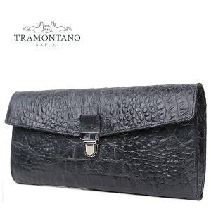 TRAMONTANO トラモンターノ クロコダイル型押し フラップ クラッチバッグ 1560 T ALCE (ブラック)レビューを書いて送料無料|laglagmarket