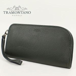 TRAMONTANO トラモンターノ メンズ カーフレザー クラッチバッグ 1450 ALCE/COCCO (モスグリーン)レビューを書いて送料無料|laglagmarket