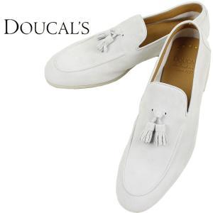DOUCAL'S デュカルス メンズ スウェード タッセル スリッポン 51608 GRANADA HO CACHEMIRE BIANCO (ホワイト)レビューを書いて送料無料|laglagmarket
