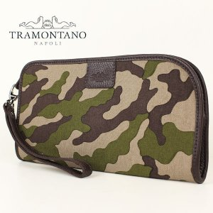 TRAMONTANO トラモンターノ メンズ カモフラ柄 キャンバス クラッチバッグ 1450 CAMOUFLAGE (カモフラ)レビューを書いて送料無料|laglagmarket