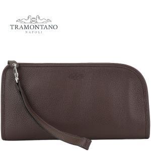 TRAMONTANO トラモンターノ メンズ カーフレザー ストラップ付 クラッチバッグ 1450 ALCE CIOCCOLATE (ブラウン)レビューを書いて送料無料|laglagmarket