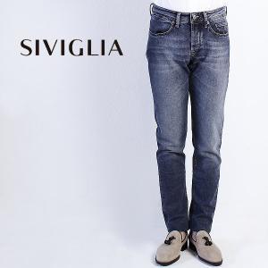 国内正規品 即日発送 SIVIGLIA シヴィリア/シビリア 5ポケット ストレッチ ウォッシュド デニム 22M3/S402/6001/1(ブルー)|laglagmarket