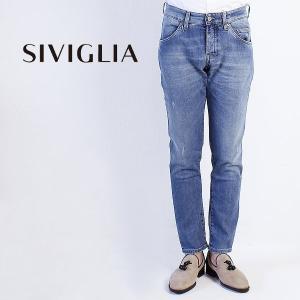 国内正規品 即日発送 SIVIGLIA シヴィリア/シビリア 5ポケット ストレッチ ウォッシュド デニム 26Q2/S407/6003 (ブルー)|laglagmarket