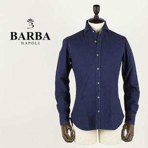 BARBA バルバ メンズ ダンディライフ インディゴ染め コットンシャツ DANDY LIFE SHIRT 134H (ネイビー)special priceAM|laglagmarket